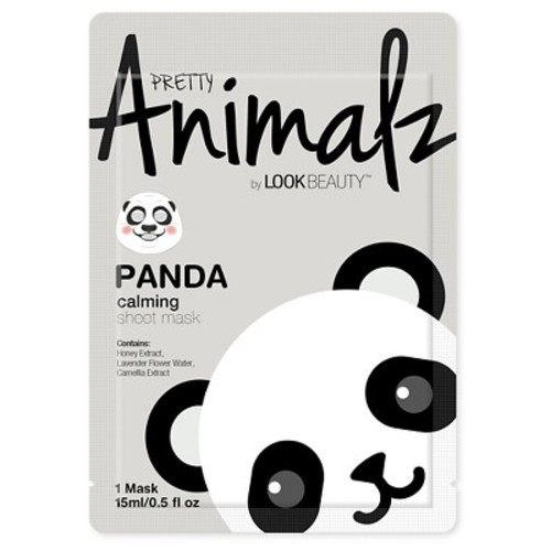 Look Beauty™ Pretty Animalz Panda Print Facial Sheet Mask 1 Count