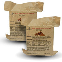 Sos Food Labs Inc. S.O.S. Rations Emergency 3600 Calorie Food Bar (Cinnamon, 2 Pack)
