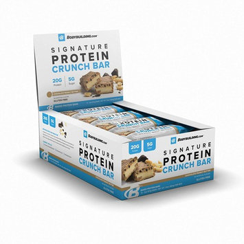 Bodybuilding.com Chocolate Peanut Butter Signature Protein Crunch Bar | 20g Whey Protein Low Sugar | Gluten Free No Artificial Flavors | 12 Bars