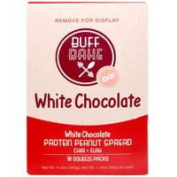 Buff Bake, White Chocolate Protein Peanut Spread, 10 Squeeze Packs, 1.15 oz (32 g) Each [Flavor : White Chocolate]