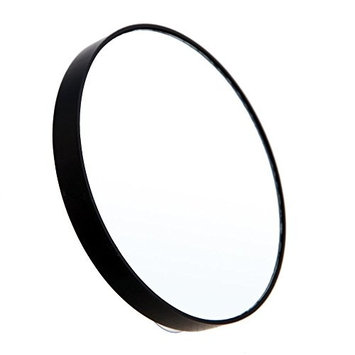 TOOGOO(R) 10X Makeup Mirror Magnifying Mirror With Two Suction Cups Makeup Tools Round Mirror Big Mirror Ten Times Magnification black