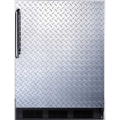 Summit FF6BBIDPL 5.5 Cu. Ft. Stainless Look Undercounter Built-In Compact Refrigerator