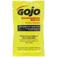 GOJO 6380-04 Scrubbing Towels, 80 Count Individually Wrapped - Heavy Duty Hand and Surface Cleaning Wipes, 23.16 fl. oz, X-Large (Case Pack of 4)