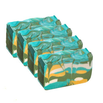 Falls River Soap Company Green Tea Soap Bar (Set of 4 Bars) - Handmade Organic Herbal Bar with Essential Oils. Natural Moisturizing Body Soap for Skin and Face. With Shea Butter, Coconut Oil and Natural Glycerin