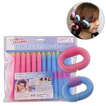 Healthcom 24 Pack Hair Styling Twist-flex Rods Flexible Curling Rods Hair Rollers for Girls and Women
