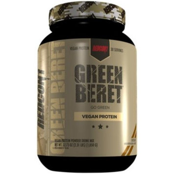 Green Beret Vegan Protein - CHOCOLATE (2.31 Pound Powder) by RedCon1