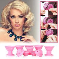 TSV 10PCS Hair Curler Styling Tool Spiral Roller Silicone Curls Magic DIY No Heat Magic