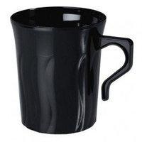 Fineline Settings, Inc Flairware Rippled Disposable Plastic 8 oz. Coffee Mug (288/Case), Black