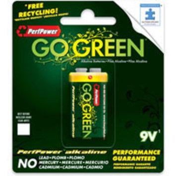 PerfPower Go Green Super Alkaline, 9V Batteries (Pack of 4)
