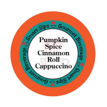 Smart Sips Coffee Pumpkin Spice Cinnamon Roll Cappuccino, 72 Count, Compatible With All Keurig K-cup Brewers