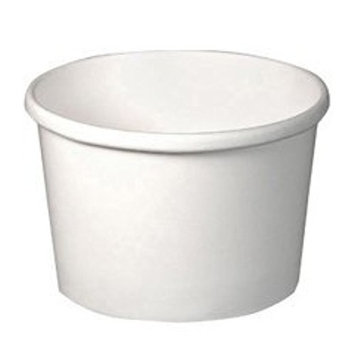 Flexstyle Double Poly Paper Containers, 8 oz, White, 25/Pack