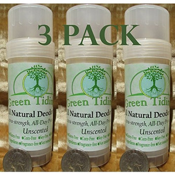 Green Tidings All Natural Deodorant Unscented 2.7oz (3 PACK)