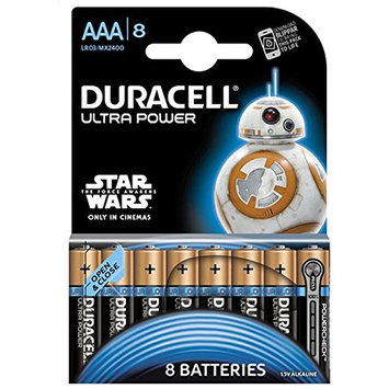 Duracell Ultra Power Type AAA Alkaline Batteries (Pack of 8)