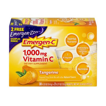 Pfizer Emergen-C Tangerine flavored Vitamin C drink mix - 30 Count, EC148