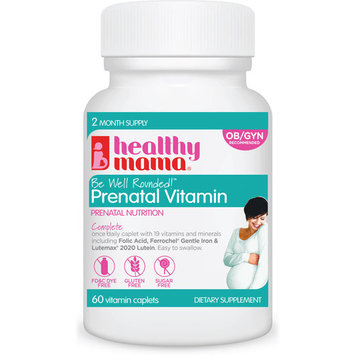 Healthy Mama Be Well Rounded! Prenatal Vitamins, 60 ct