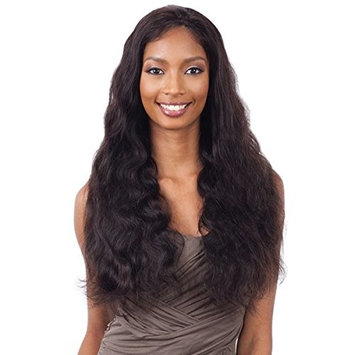 Naked Unprocessed Brazilian 100% Human Hair Frontal Lace Wig - NATURAL 101 Body Wave 26