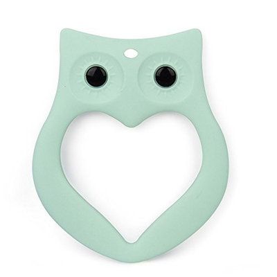Baby Teether Toys Cute Owl Design, Silicone Teether Chewable BPA Free Silicone Teething Toy for Baby Boys and Girls, Soothe Sore Gums, Stimulate Gums, Reduce Drooling