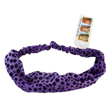 Purple Leopard Print Faux Leopard / Cheetah Headband
