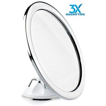 Hampstead Best Fogless Shower Shaving Mirror For Bathroom - 3X Magnification - Fog Free Bathroom Shaving Mirror - Lock Suction Cup – Travel Mirror with...