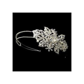 Jackie Marvelous Austrian Crystlal & Ivory Pearl Wedding Bridal Headband