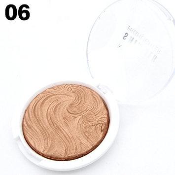 MISS ROSE Makeup Baked Powder Compact Highlight Powder Pact Facial Brighten Shimmer Concealer Bronzer Illuminator