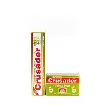 Crusader Skin Lightening Cream & Crusader Safety Soap DUO Bundle + FREE Tube Squeezer
