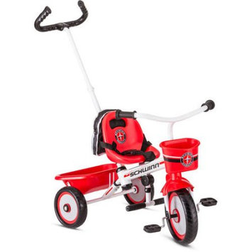 Pacific Cycle Schwinn Easy Steer Trike, Red and White