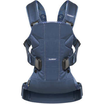 BABYBJORN Baby Carrier One - Midnight Blue/Leaf Print