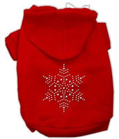 Mirage Pet Products 542513 XSRD Snowflake Hoodies Red XS 8