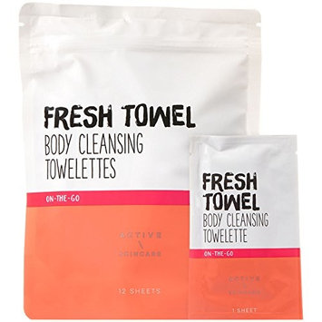 Bath & Body Works FRESH TOWEL Body Cleansing Towelettes 12 sheets