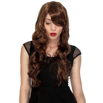 Simplicity High Quality Long Curly Full Wig Wavy Cosplay Party Wigs, Light Brown