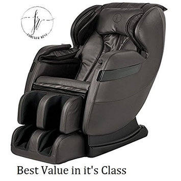 2018 BEST VALUED FOREVER REST FR-5KLS PREMIER L -TRACK SHIATSU, ZERO GRAVITY MASSAGE, SPACE SAVING CHAIR WITH FOOT ROLLING, BUILT IN HEAT, STRETCH & SWING MODE (5kls brown)