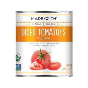Made With Organic Tomatoes, Diced, 28 Oz