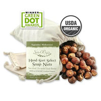 NaturOli, Organic, Hand-Sort Select Soap Nuts With 2 Muslin Drawstring Bags, 32 oz