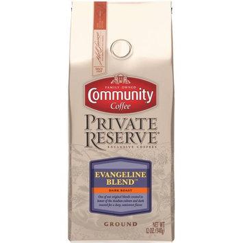 Community Coffee Private Reserve Evangeline Blend Dark Roast Ground Coffee, 12 oz