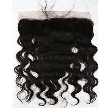 Sent Hair 13x4 Lace Frontal Closure Ear to Ear with Baby Hair Body Wave Brazilian Virgin Human Hair Frontal Natural Color 8 inch []