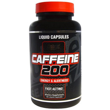 Nutrex Research Labs Caffeine 200, 60 Liquid Capsules