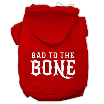 Mirage Pet Products Bad to the Bone Dog Pet Hoodies Red Size XXXL (20)