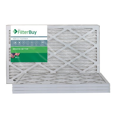 AFB Platinum MERV 13 12x26x1 Pleated AC Furnace Air Filter. Filters. 100% produced in the USA. (Pack of 4)