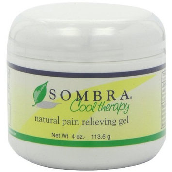 Sombra Cool Therapy Natural Pain Relieving Gel, 4-Ounce Jar