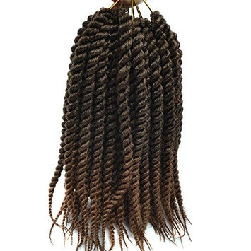 12Inch Spring Havana Mambo Twist Crochet Pre Braided Crochet Braids Senegalese Twist 75G 12Strands Twisted Crochet Hair Extensions