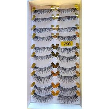 Model Prefer High End No. 728 False Fake Eyelashes 10 Pairs-Long Black False Eyelashes Reusable Natural Human Hair Deluxe -easy to apply-good for eye make up-Manufacturer # 728 equal to the customer label # 720 (Same item!!)