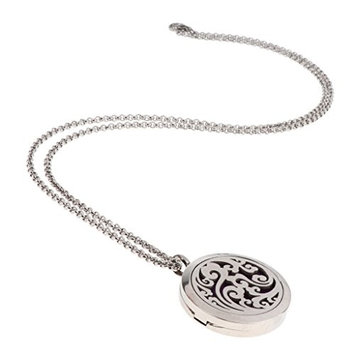 Homyl Aromatherapy Essential Oil Diffuser Necklace Locket Perfume Necklace with Adjustable Chain for Gift Girl Women Lady or Girlfriend - Flower