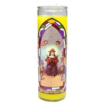 Jar Candle Santo Nino de Atocha Yellow - Continental Candle®