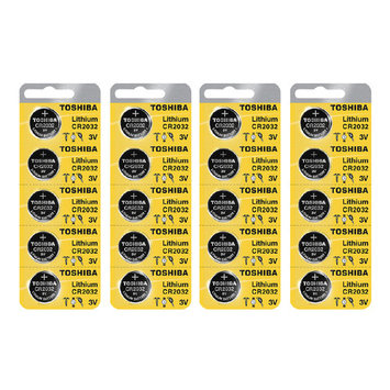 Toshiba CR2032 3 Volt Lithium Coin Battery (4 Packs of 5)