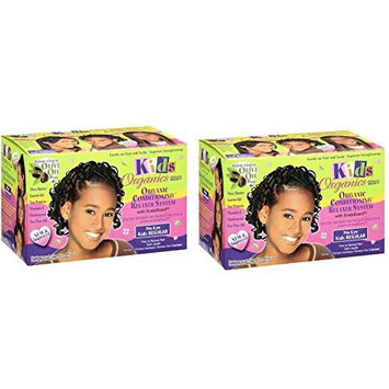 [ PACK OF 2] Africa's Best Kids Originals, Natural Conditioning Relaxer System with Scalp Guard: Beauty