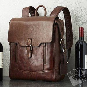 Other 3-Bottle Leather BYO Wine Backpack