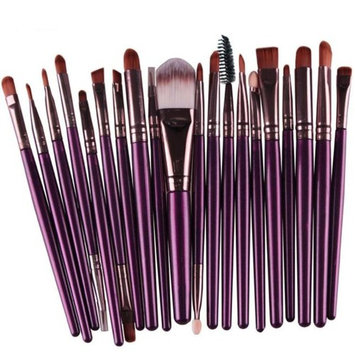 Staron 20 Pcs Makeup Brush Set Wood Handle Wool Premium Make Up Brushes Toiletry Kit Cosmetics Foundation Blending Blush Eyeliner Face Powder Brush Makeup Brush Set...
