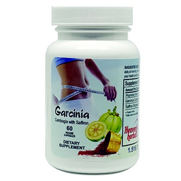 Heavenly Herbals, Inc. Garcinia Cambogia 100% Pure Garcinia Cambogia Extract with Saffron, 60 Veggie Capsules, All Natural Appetite Suppressant, carb blocker, Weight Loss Supplement