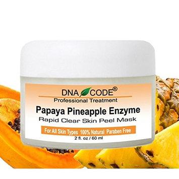 DNA Code-20% Papaya Pineapple Glycolic Enzyme Clear Skin Mask Peel w/Argireline, Hyluronic Acid, Glycolic Acid, Vit. C, E, CoQ10